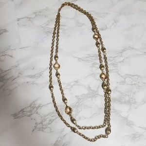 Gold double layer necklace